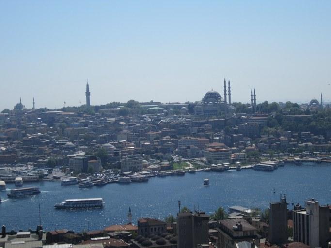 Panorama depuis la Tour de Galata, Istanbul Turquie