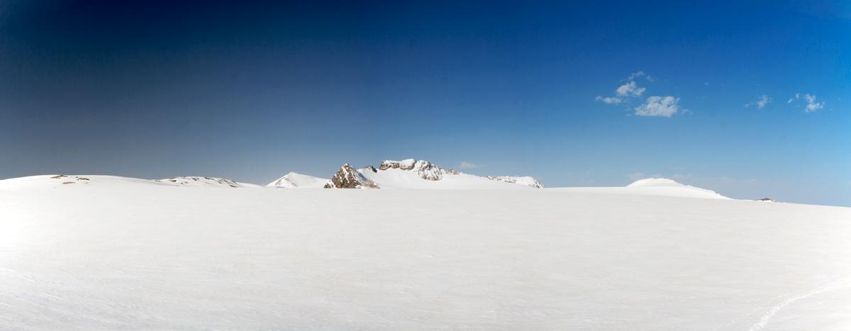 Le Glacier de la Roche Ferran avec le Mont Pelve et la Pointe du Dard (Parc National de la Vanoise)