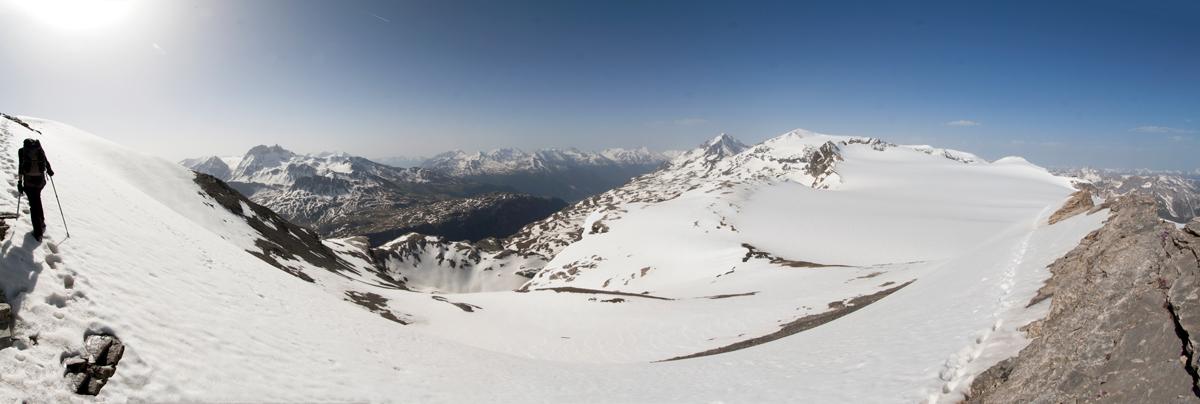 Pointe de la Réchasse : vue sur le Glacier de la Roche Ferran (Parc National de la Vanoise)