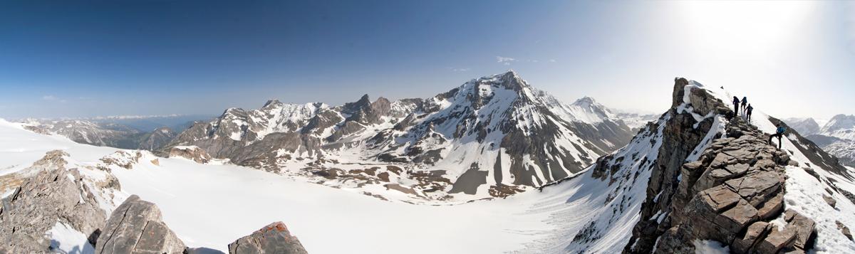 La Grande Casse et le Col de la Vanoise depuis l'arête de la Pointe de la Réchasse (Parc National de la Vanoise)