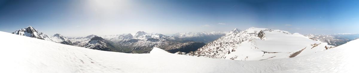 Vue panoramique depuis la Pointe de la Réchasse (Parc National de la Vanoise)