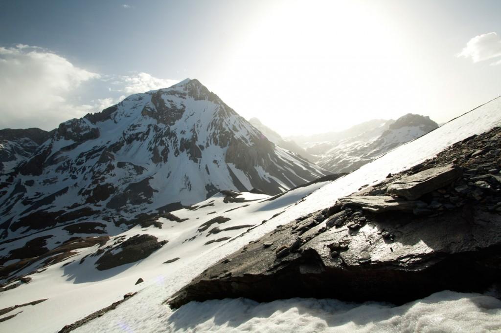 Lever du Soleil derrière la Grande Casse (Parc National de la Vanoise)