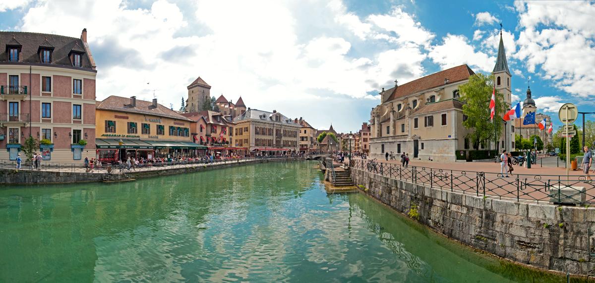 Canal du Thiou et Quai Perrière (Vieille Ville Annecy)