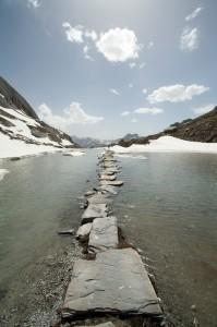 Vanoise : Lac des Vaches au-dessus de Pralognan la Vanoise