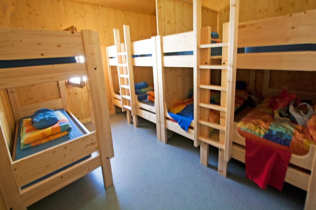 Chambre du nouveau Refuge du Col de la Vanoise