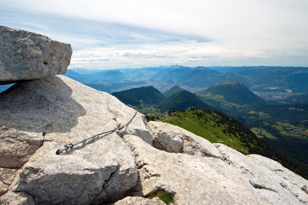 Arrivée du passage rocheux, sommet de Chamechaude (Massif de la Chartreuse)