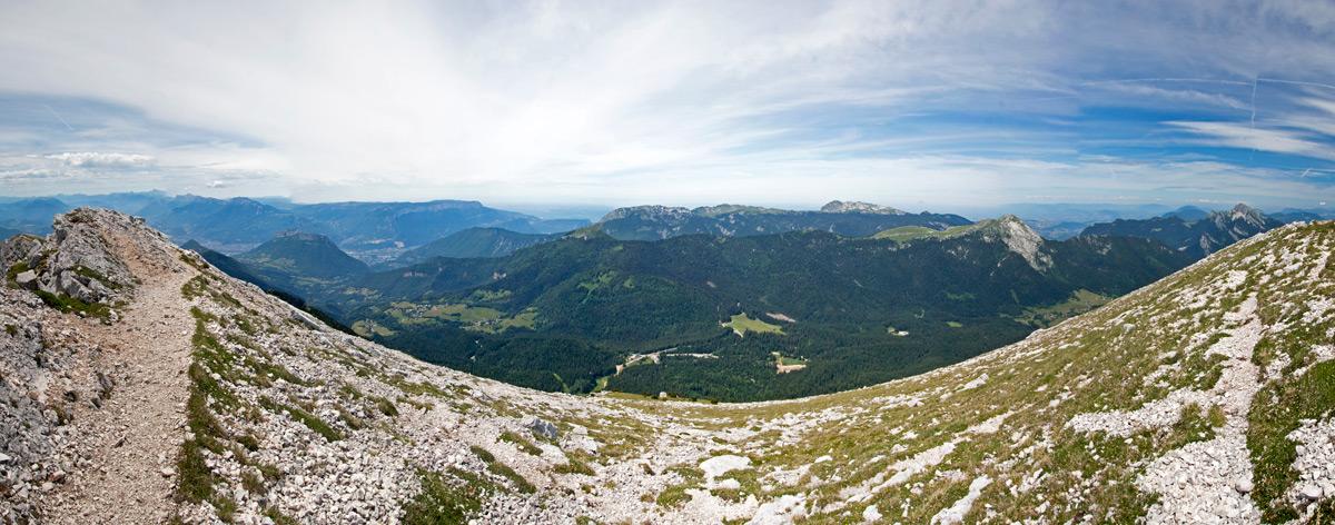 Arête du sommet de Chamechaude (Massif de la Chartreuse)