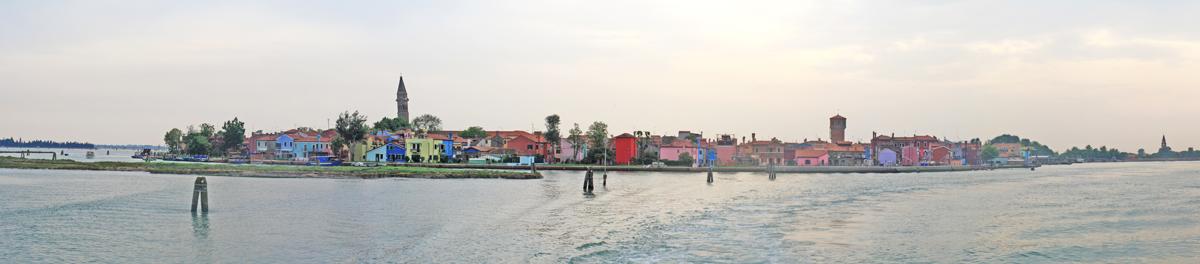 L'île de Burano (Lagune de Venise)