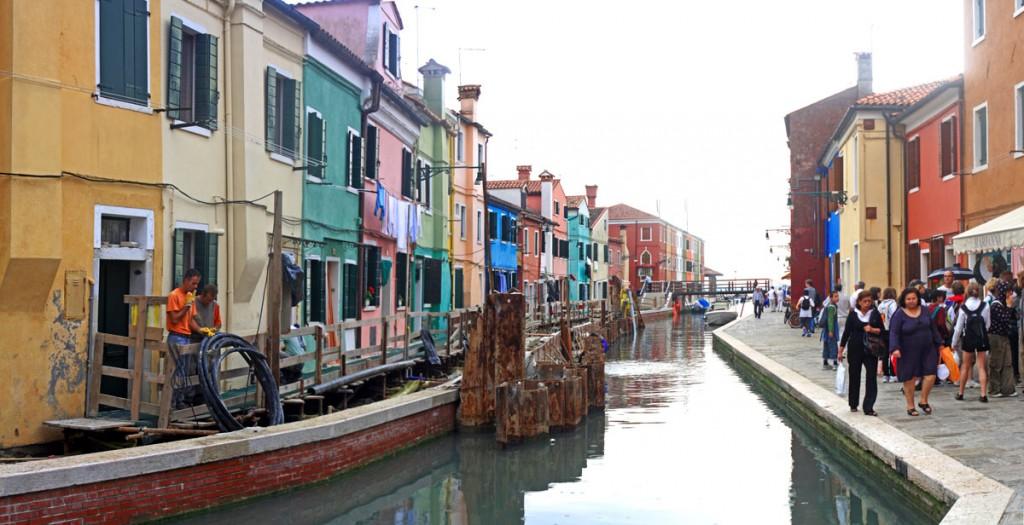 Fondamenta di Canavella, canal de Burano (lagune de Venise)
