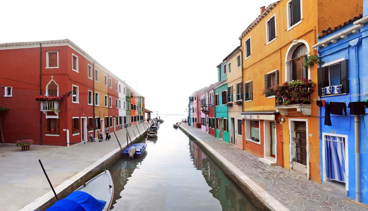 Fondamenta di Canavella - canal de Burano (lagune de Venise)