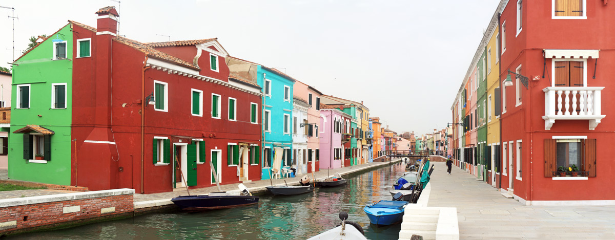 Fondamenta della Pescheria - canal de Burano (lagune de Venise)