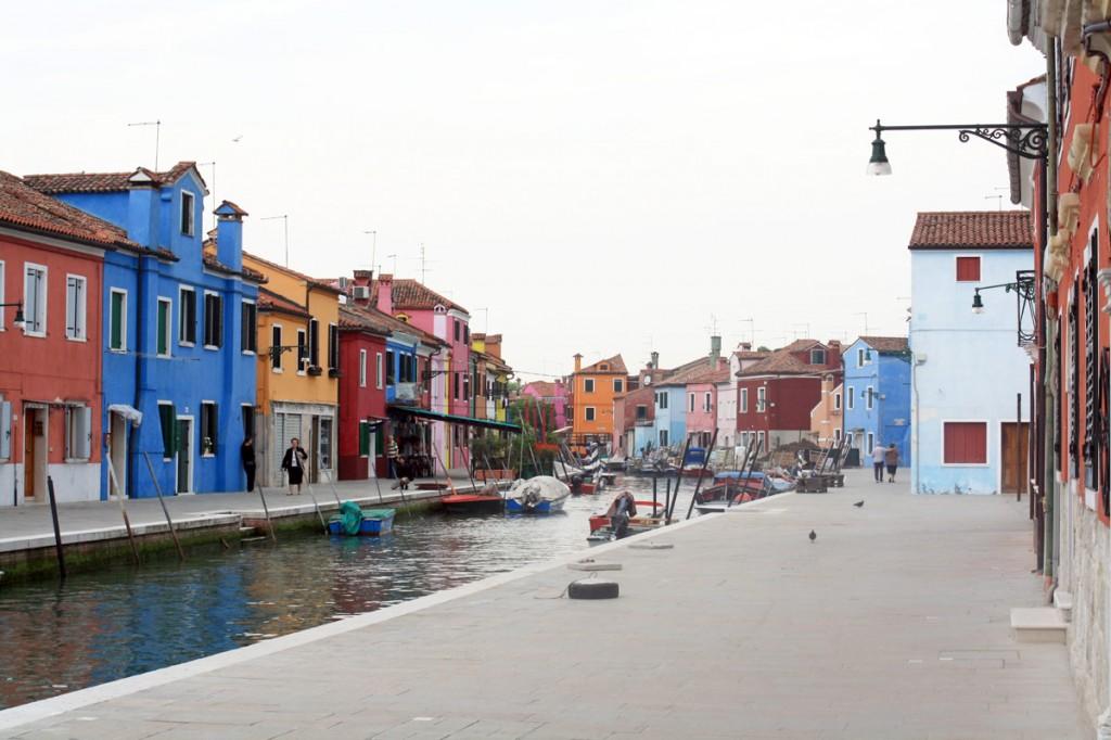 Fondamenta San Mauro - canal de Burano (lagune de Venise)