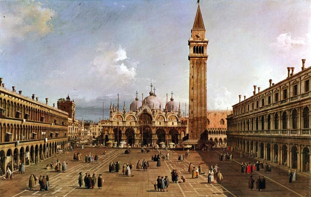 """""""Place Saint Marc avec la Basilique"""" (1730) CANALETTO"""