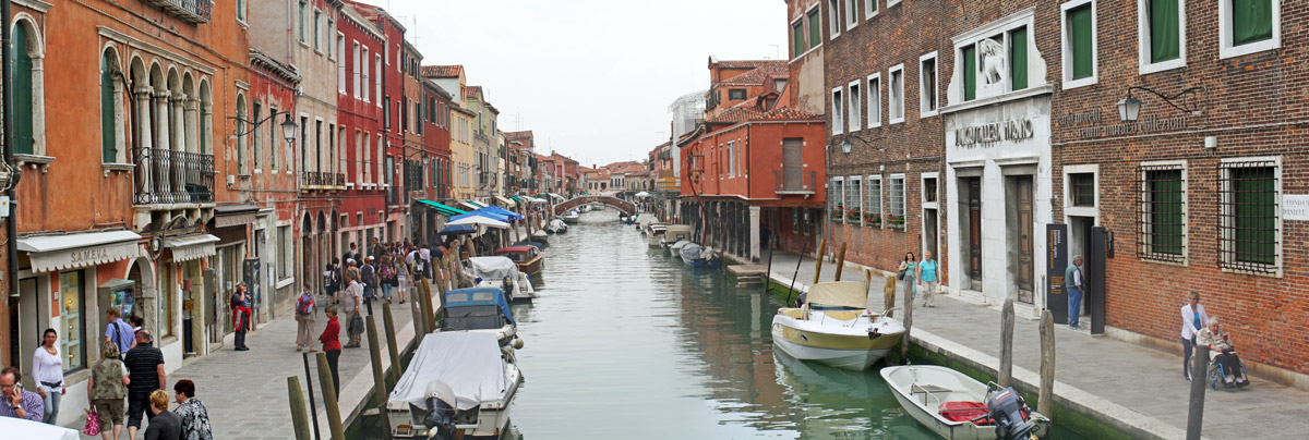 Fondamenta dei Vetrai, canal sur l'île de Murano (Lagune de Venise)