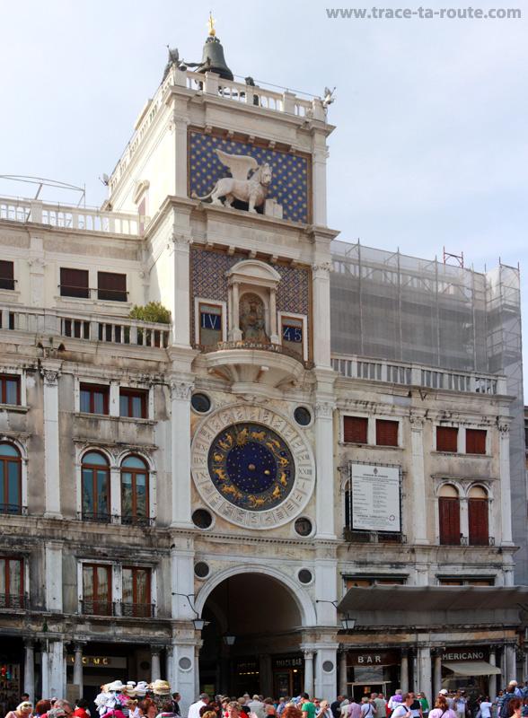 """Tour de l'Horloge, place Saint Marc de Venise (""""Torre dell'Orologio"""")"""