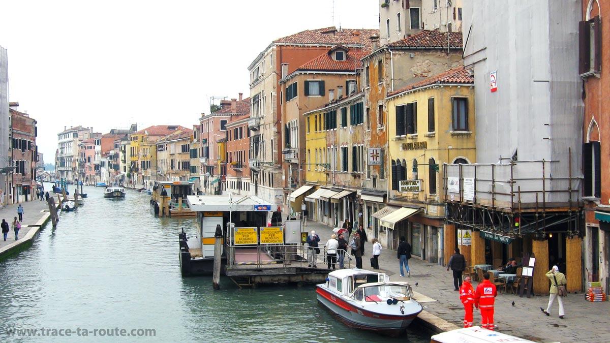 Canal di Cannaregio, depuis le Ponte delle Guglie, Venise