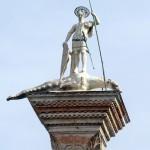 La colonne de Saint Théodore sur la Piazzetta Saint-Marc de Venise