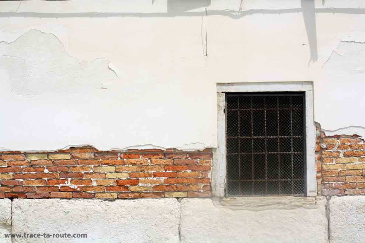 Façade de maison à Venise