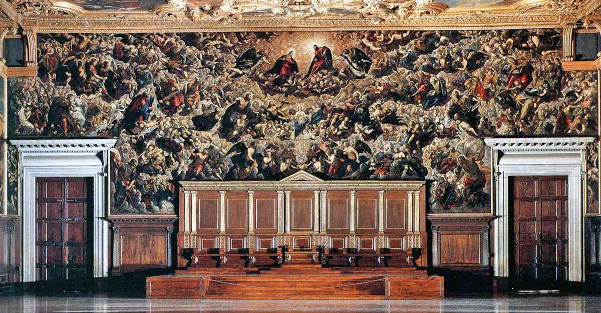 """""""Le Paradis"""" (1588) TINTORET - Palais des Doges, Venise"""