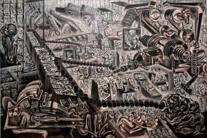 """""""Autotransformateur des générations"""" (1961) ERRÓ"""