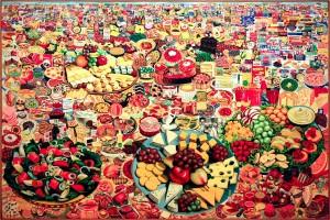"""""""Foodscape"""" (1964) série """"Retour d'USA"""" ERRÓ"""