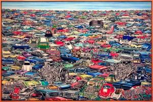 """""""Carscape"""" (1968-1969) ERRÓ"""