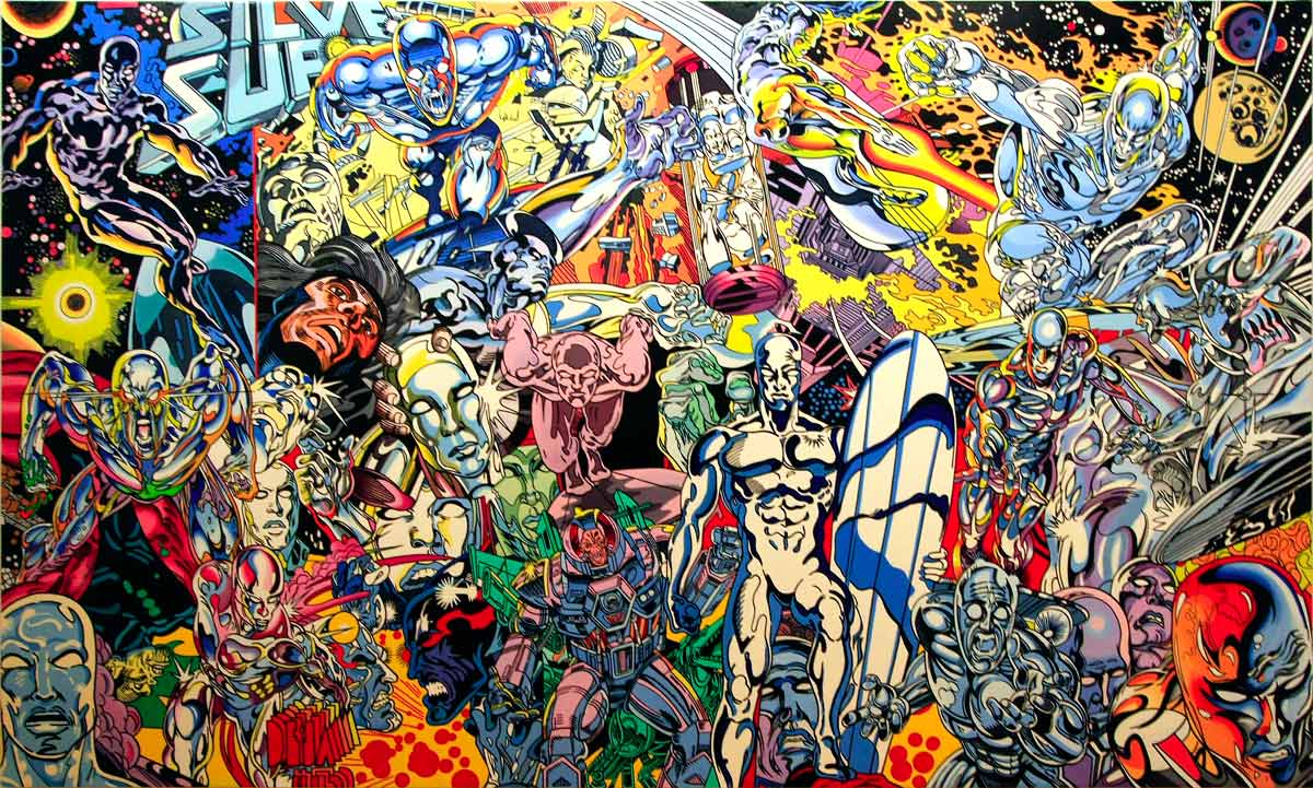 """Silver Surfer saga"" (1999) série ""Saga of american comics"" - ERRÓ"
