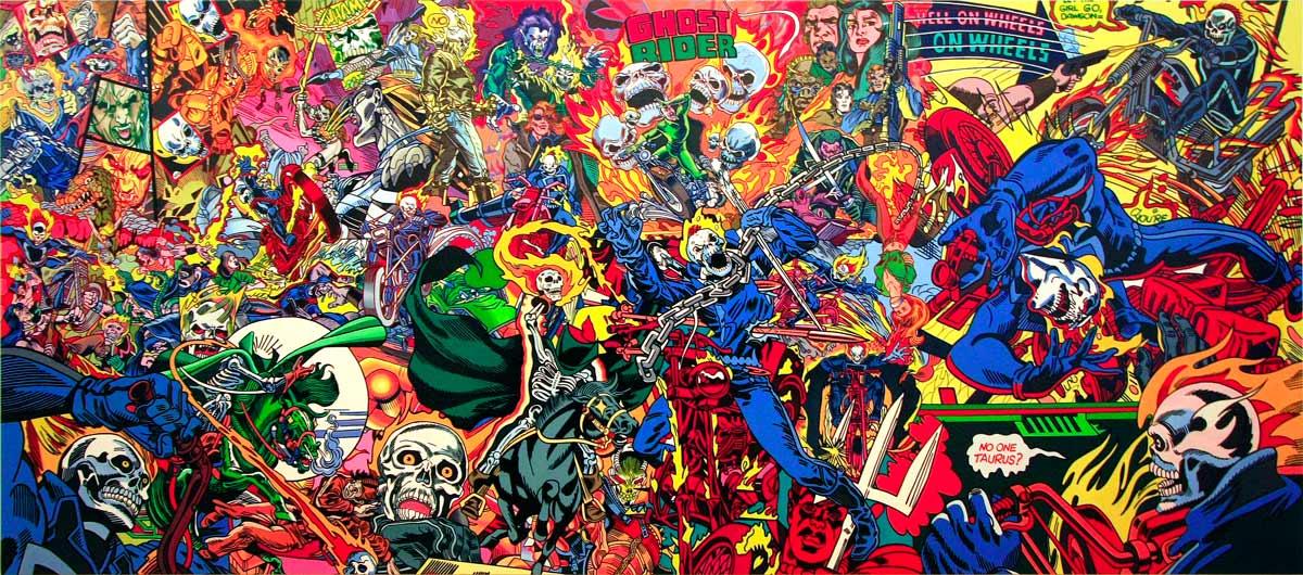 """Ghost Rider saga"" (1998) série ""Saga of american comics"" ERRÓ"