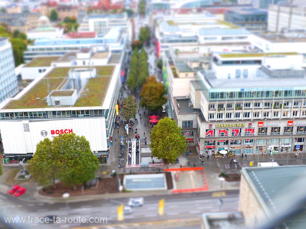 La foule sur la Koenigstrasse Stuttgart - Allemagne Deutschland Germany