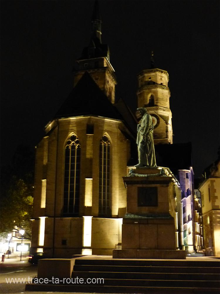 Schillerplatz de nuit Stuttgart - Allemagne Deutschland Germany