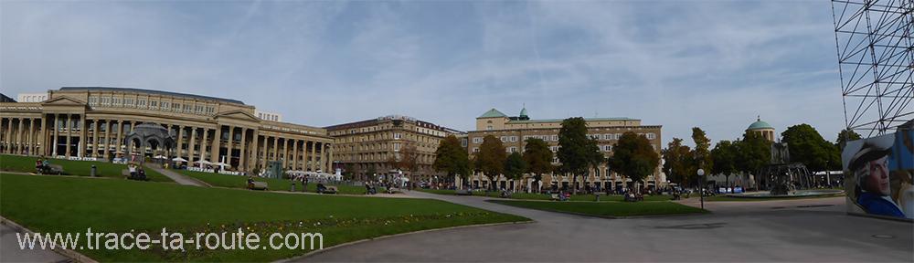 Panorama sur la Schlossplatz Stuttgart - Allemagne Deutschland Germany