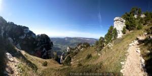 Sortie de la cheminée du Mont Granier (Chartreuse)