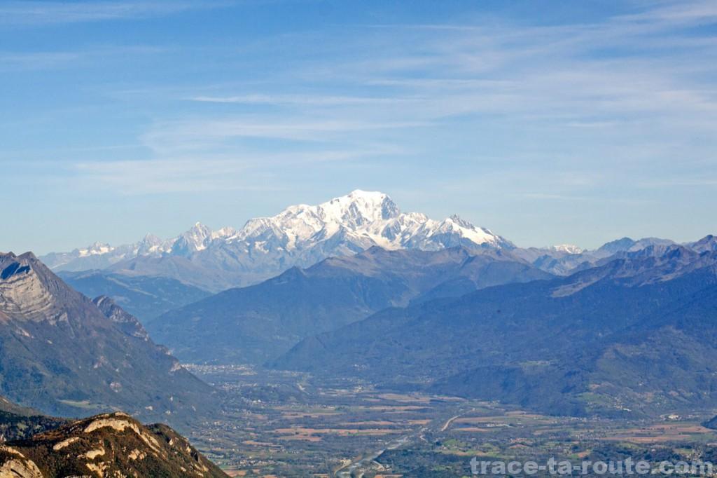 Le Mont Blanc, vu depuis le Granier