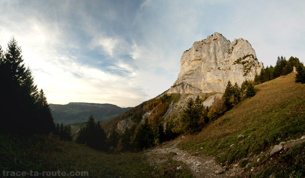 Sommet Sud du Mont Granier depuis le Col de l'Alpette (Chartreuse)