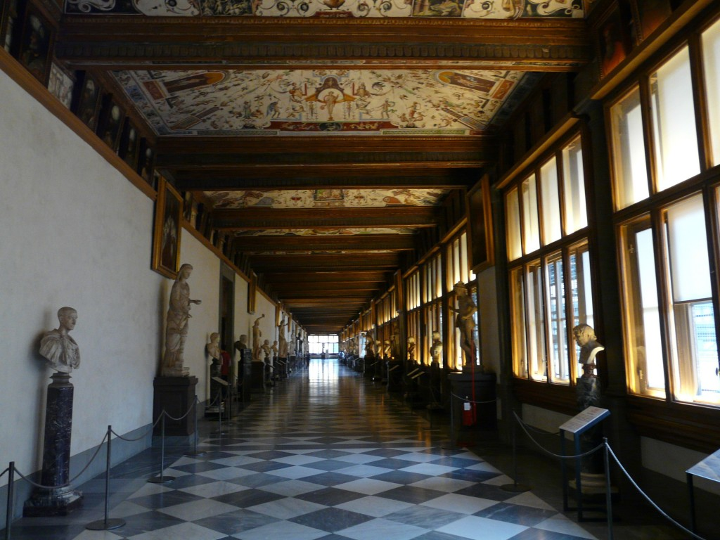 galerie des Offices, florence blog voyage trace ta route