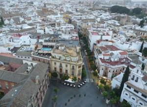 Vue depuis la Giralda à Seville