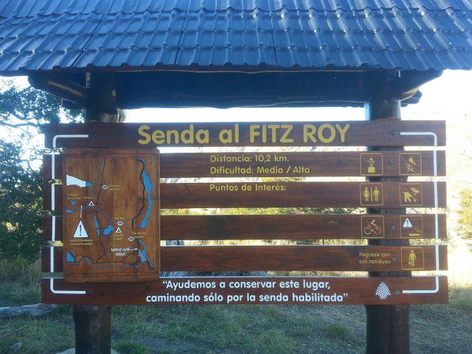 panneau sentier fitz roy blog voyage