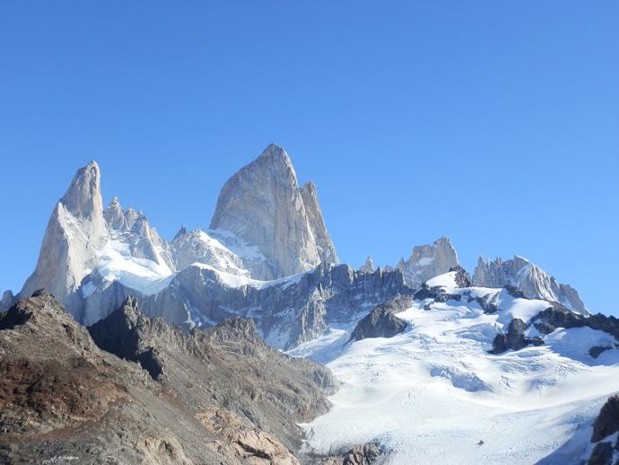 mont fitz roy aiguille saint exupéry et glacier