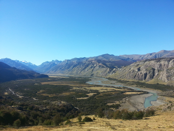 vue de la vallée fitz roy el chalten