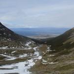 Vue sur Ushuaïa depuis le flanc du Mont Martial