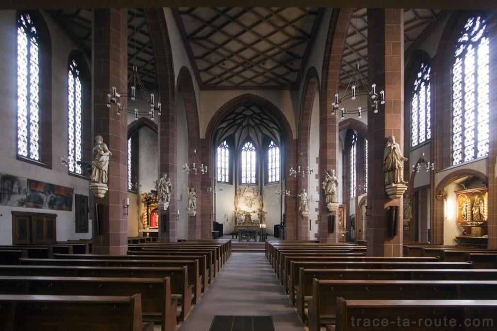 Intérieur de Liebfrauenkirche, l'Église Notre-Dame de Francfort