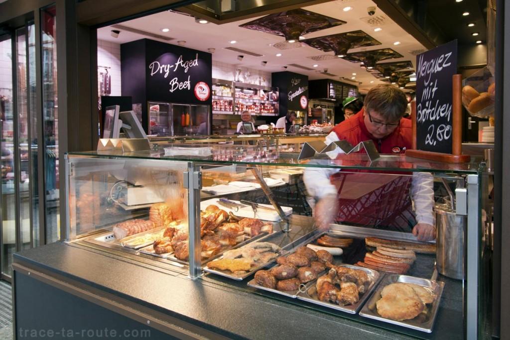 Boucherie-sandwicherie sur la place Liebfrauenberg de Francfort
