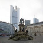 La statue de Gutenberg sur la place Goethe à Francfort