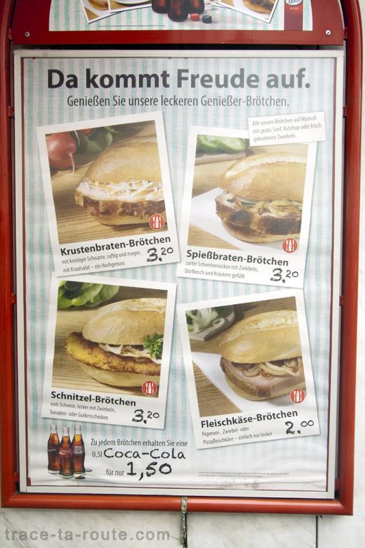 Spécialités sandwiches gastronomie de Francfort