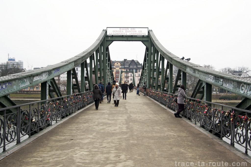 Eiserner Steg, pont sur le Main de Francfort