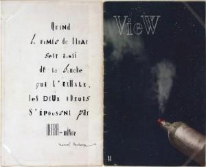 """""""View. The Modern Magazine. New York, march 1945"""" (1945) Marcel DUCHAMP, Musée d'Art Moderne de Francfort"""