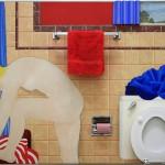 """Bathtub collage #1"" (1963) Tom WESSELMANN, Musée d'Art Moderne de Francfort"