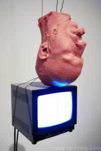 """""""Perfect balance"""" (1989) (détail) Bruce NAUMAN, Musée d'Art Moderne de Francfort"""