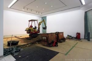 Montage exposition Musée d'Art Moderne de Francfort
