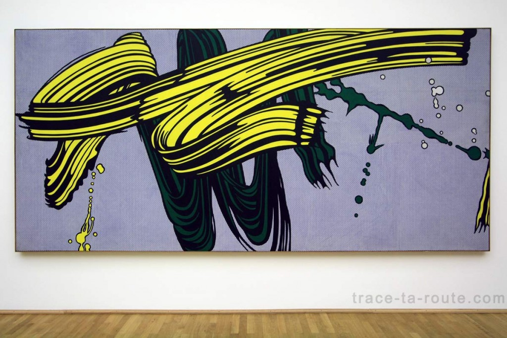 """Yellow and Green Brushstrokes"" (1966) Roy LICHTENSTEIN, Musée d'Art Moderne de Francfort"